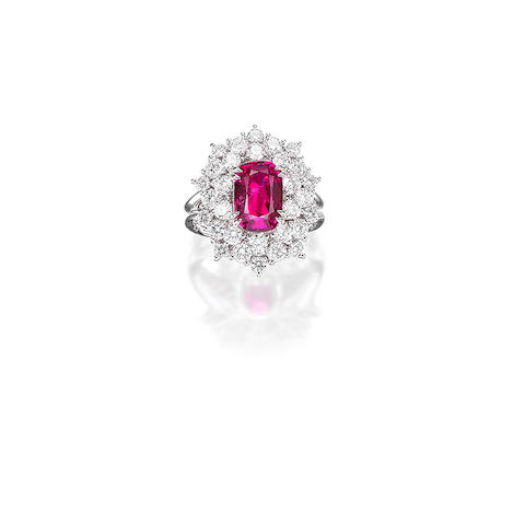 A Ruby and Diamond Ring, by Alexander Laut