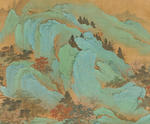 Attributed to Qiu Ying (1494-1552) Blue and Green Landscape