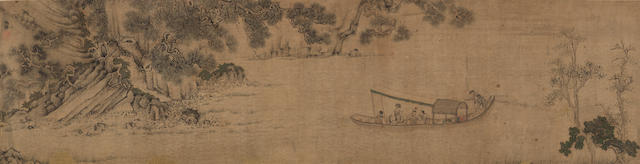 Attributed to Qiu Ying (1494-1552) Ode to the Red Cliff