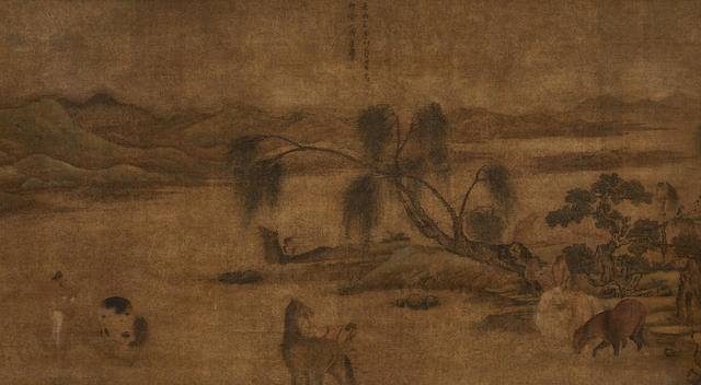 Zhao Mengfu (1254-1322)  Horses and Grooms