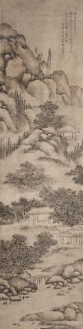 Attributed to Dai Benxiao (1621-1691) Landscape