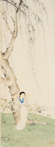 Chen Shaomei (1909-1954) Lady by the Willow Tree
