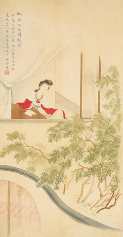 Lin Puqing (1821-1873) Lady by the Window