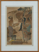 Cheong Soo Pieng (Singaporean, 1917-1983)  Winnowing