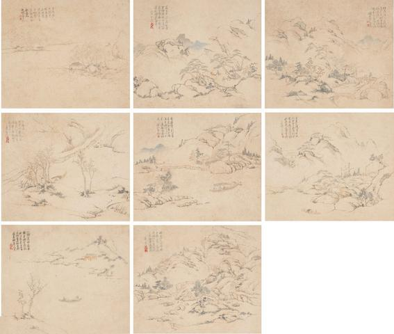 Xiao Yuncong (1596-1673) Landscapes (8)