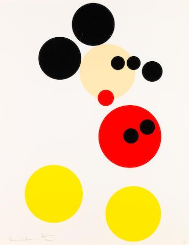 Damien Hirst B. 1965, 達米恩·赫斯特 Mickey 米奇老鼠 (Published by Other Criteria, London. )