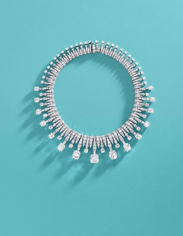 An Extremely Rare And Impressive Art Deco Diamond Necklace, by Bulgari,