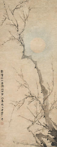 Jin Nong (1687-1763) Moon and the Plum Tree