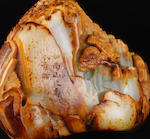 An Imperially-inscribed white and russet jade 'birthday celebration' boulder First half of the 18th century, two-character seal mark Chun He (2)