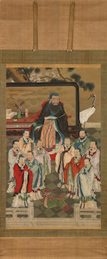 Anonymous (Qing Dynasty) Confucius and Disciples