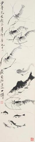 Qi Baishi (1864-1957)  Shrimps and Fishes