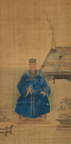 Anonymous (17th Century) Portrait of a Scholar in Blue Robe