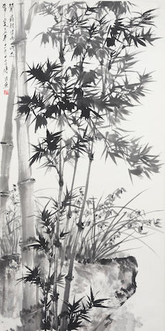 Tang Yun (1910-1993) Bamboo and Orchids