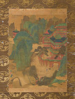 Attributed to Qian Xuan (1235-1305)  Landscape
