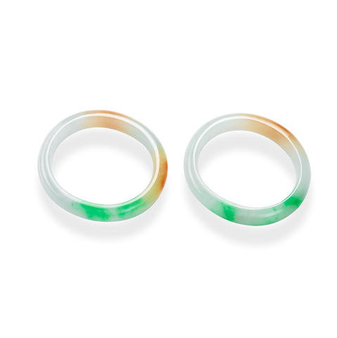 A pair of jadeite bangles