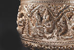 A SILVER REPOUSSE BOWL WITH SCENES FROM THE RAMAYANA BURMA, 19TH CENTURY