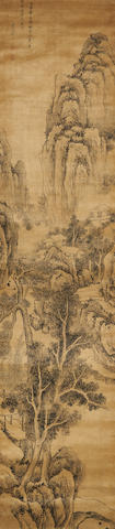Han Kuang (17th century) Landscape After Wu Zhen (1280-1354)