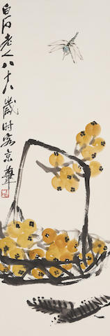 Qi Baishi (1864-1957) Dragonfly and Loquats