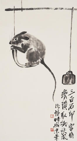 Qi Baishi (1864-1957) Mouse at Play