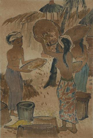 Cheong Soo Pieng (Singaporean, 1917-1983)  Winnowing