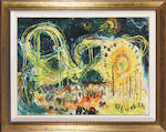 Affandi (Indonesian, 1907-1990) Roller Coaster, EXPO '70, Osaka