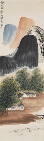 Qi Baishi (1864-1957) Hut in the Bamboo Grove
