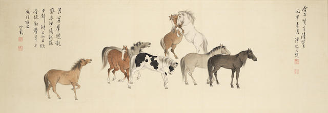 Pu Ru (1896-1963) Eight Horses
