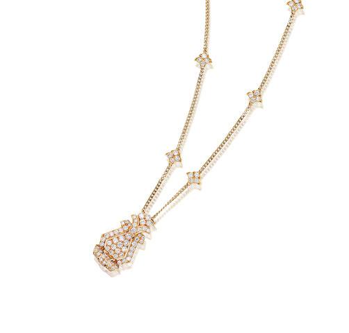 A Diamond Pendant Necklace, by Cartier,