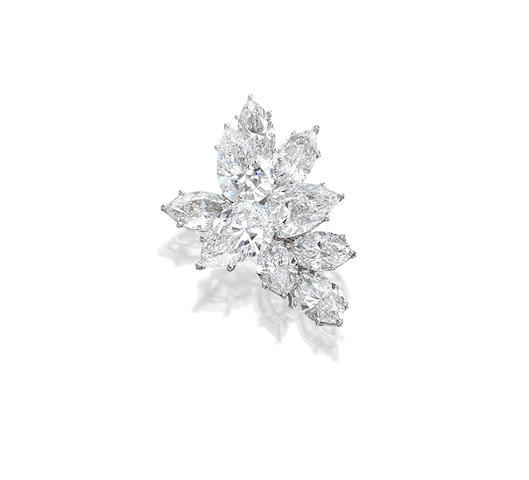 Bonhams : A Diamond Brooch, by Harry