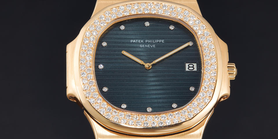"Patek Philippe, A Fine and Rare ""Jumbo"" Yellow Gold and Diamond Set Automatic Bracelet Watch with Date, Ref. 3700/3J Mvt 1309086 Case 546013"