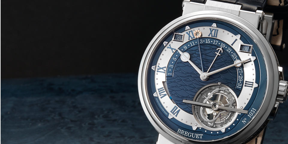"Breguet, A Very Rare Platinum Automatic Tourbillon, Perpetual Calendar Wristwatch with Equation of Time and Leap Year Indication, ""Equation Marchante - Horloger De La Marine"" Ref. 5887PT Y2 9WV Case No. 1031 BU, with box and certificate"