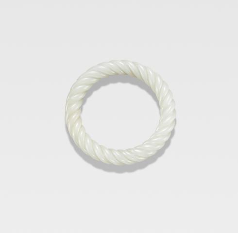 A fine white jade rope-twist bangle 18th century