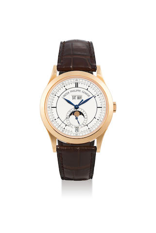 Patek Philippe, A 18K Pink Gold Annual Calendar Wristwatch, Ref. 5396R-001, with certificate