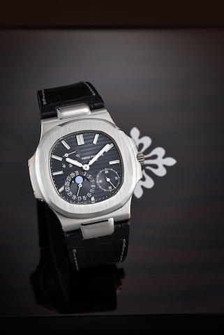 Patek Philippe, A White Gold Nautilus Wristwatch, Ref. 5712G-001, with certificate