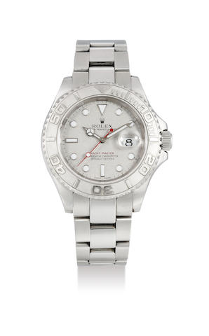 Rolex. A Stainless Steel Yacht-Master Superlative Chronometer Wristwatch, No. 16622-A784311, with certificate