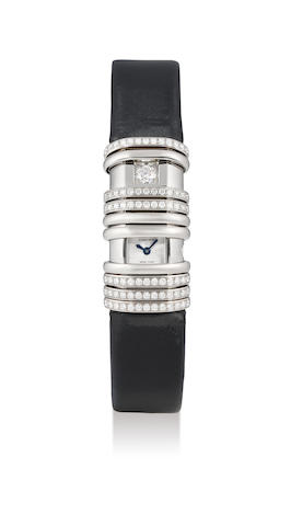 Cartier, A 18K White Gold, Diamond-set Rectangular Wristwatch with Concealed Dial. Ref. 2611, Case no. 81244CE, with box