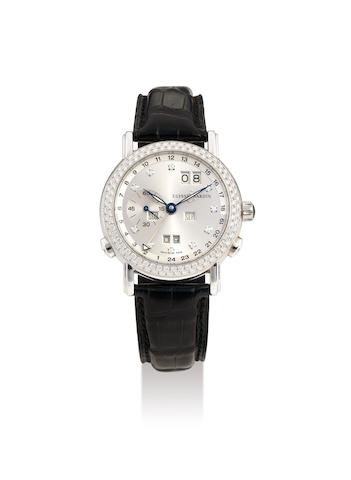 Ulysse Nardin. A White Gold and Diamond-bezel Perpetual Calendar Wristwatch, Ref.320-22