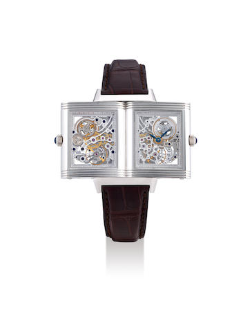 Jaeger-LeCoultre. A Rare Platinum Limited Edition Skeletonised Wristwatch, With certificate