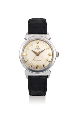 Omega. A Stainless Steel Wristwatch with Hooded Lugs