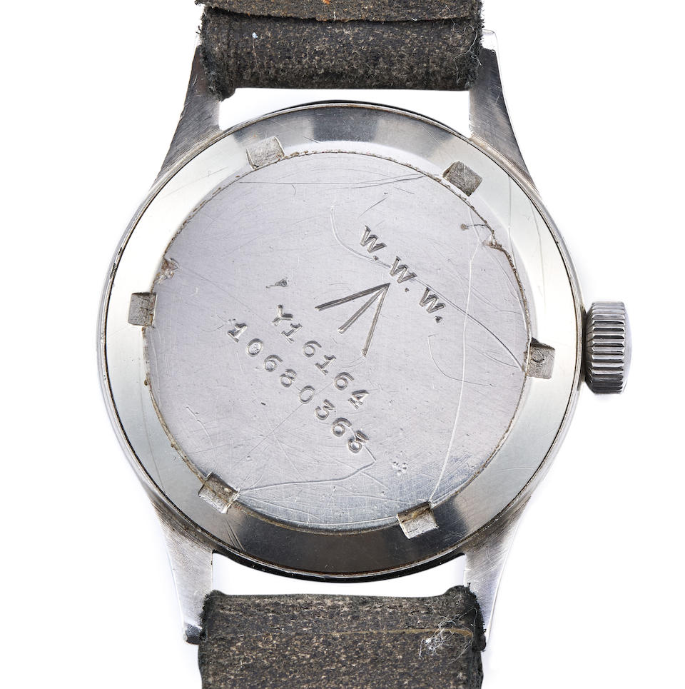 Omega. A Stainless Steel Military Issue Wristwatch