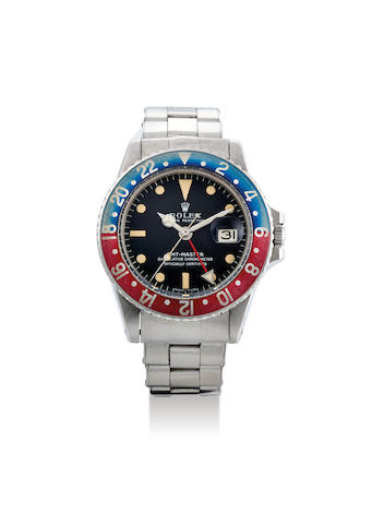 Rolex. A Stainless Steel Bracelet Watch with Dual Time Zone, 'Pepsi Bezel' and Date