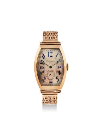 Longines. A Yellow Gold Bracelet Watch