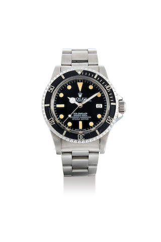 Rolex. A Stainless Steel Bracelet Watch with Date