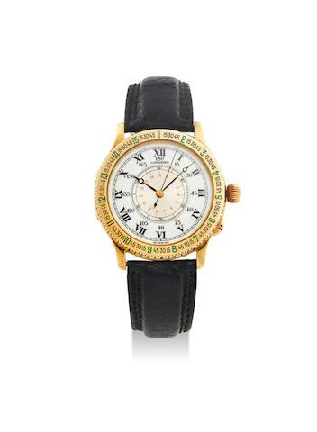 Longines. A Yellow Gold Automatic Wristwatch