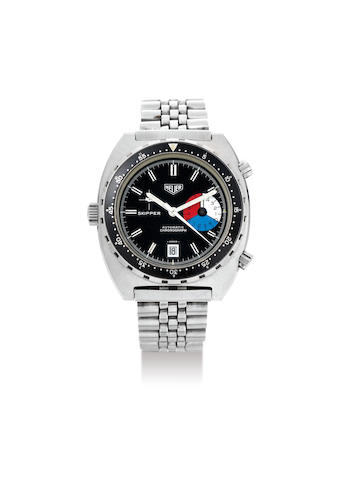Heuer. A Stainless Steel Bracelet Watch with Date