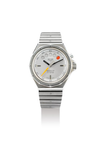 Heuer. A Stainless Steel Bracelet Watch with Countdown Function