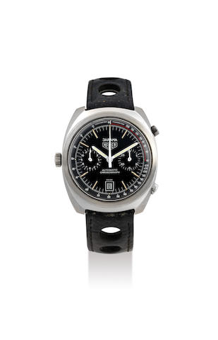 Heuer. A Stainless Steel Chronograph Wristwatch with Date