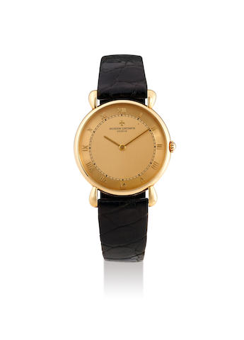 Vacheron Constantin. A Yellow Gold Wristwatch with Gilt Dial