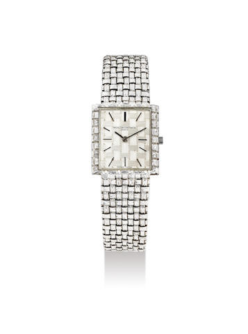 Vacheron Constantin. A White Gold Bracelet Watch