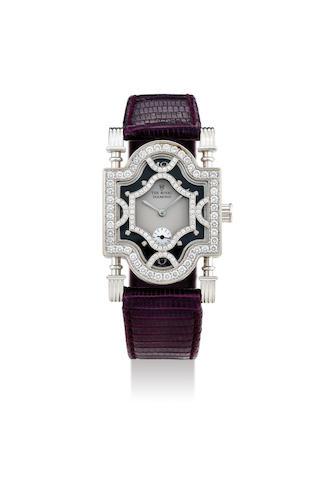 The Royal Diamond. A White Gold and Diamond Wristwatch Designed as an Arabian Trellis